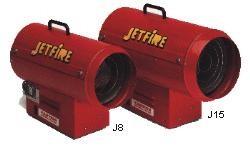 Jetfire LPG Industrial Space Heaters; J8,J15,J25 & J33 Series
