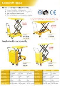 Scissor Lift Trolley Range 3