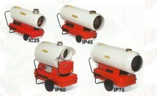 Spitfire Diesel Indirect fired Industrial Space Heaters; IC25, IP45, IP60 AND IP